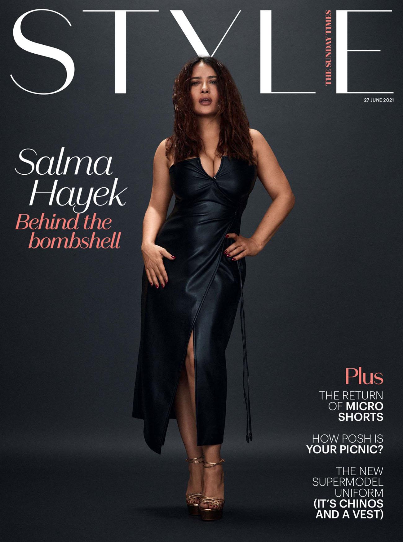 Salma Hayek covers The Sunday Times Style June 27th, 2021 by Matt Easton