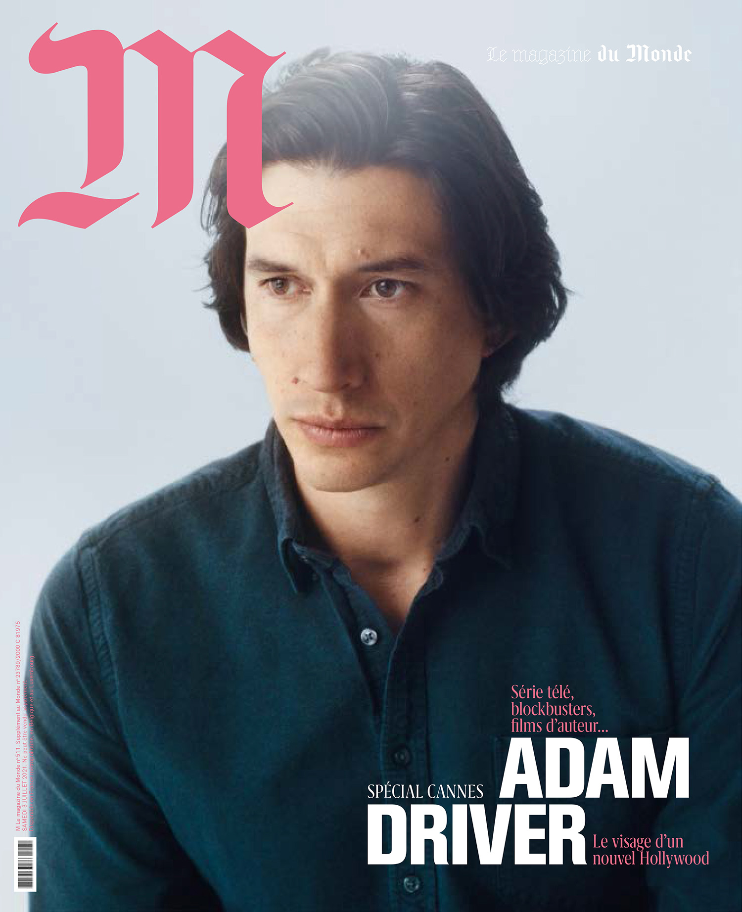 Adam Driver covers M Le magazine du Monde July 3rd, 2021 by Daniel Shea
