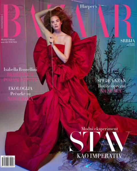 Alexina Graham covers Harper's Bazaar Serbia June 2021 by Luis Monteiro