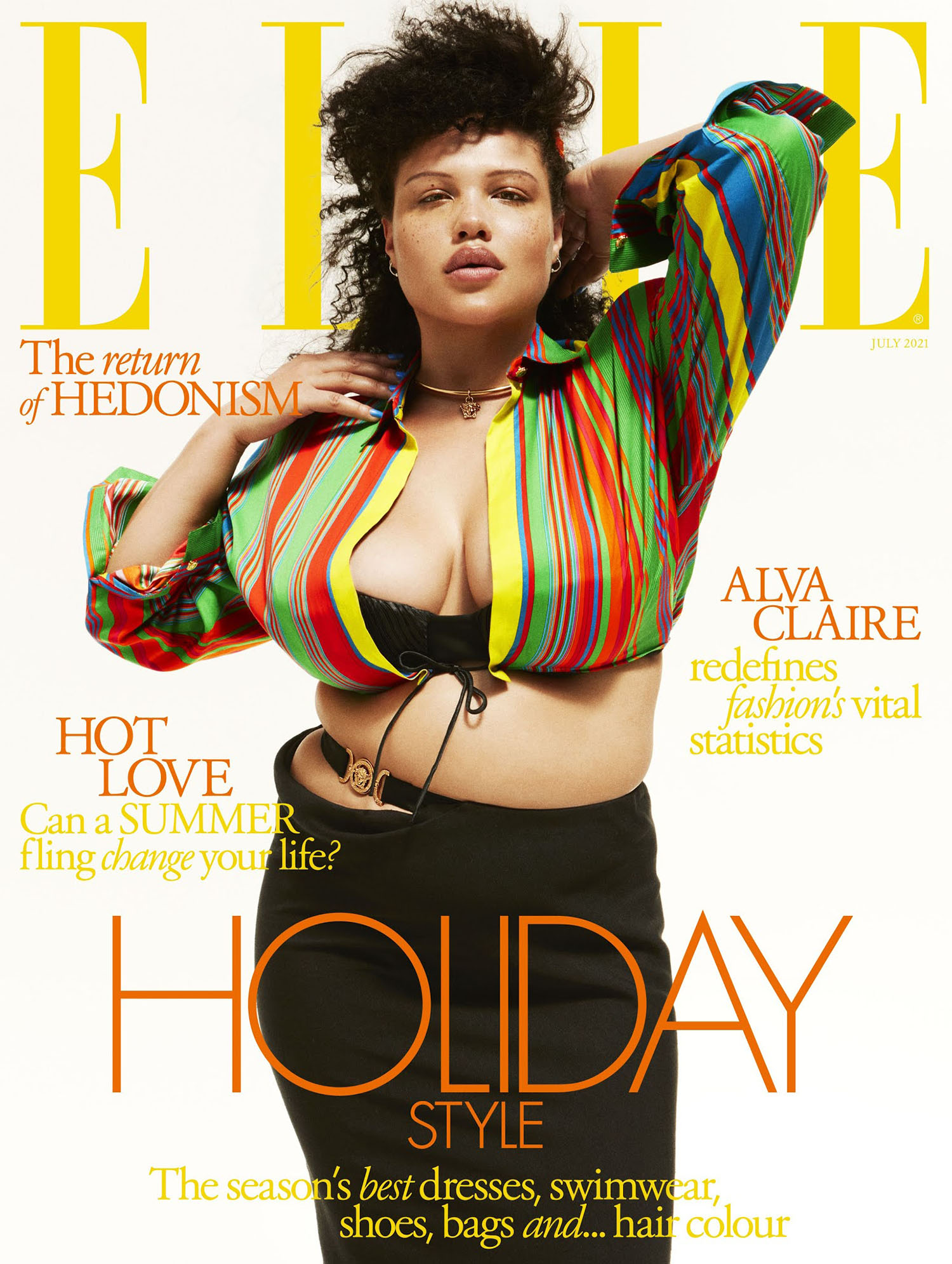 Alva Claire covers Elle UK July 2021 by Danny Kasirye