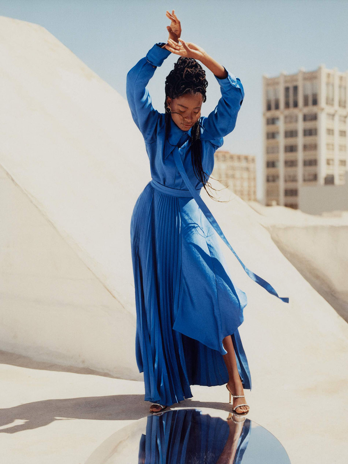 Amanda Gorman covers Porter Magazine July 26th, 2021 by Kennedi Carter