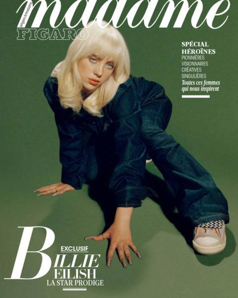 Billie Eilish covers Madame Figaro July 23rd, 2021 by Kelia Anne MacCluskey