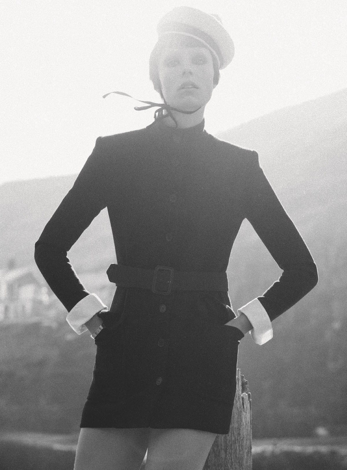 Edie Campbell by Theo Sion for British Vogue July 2021
