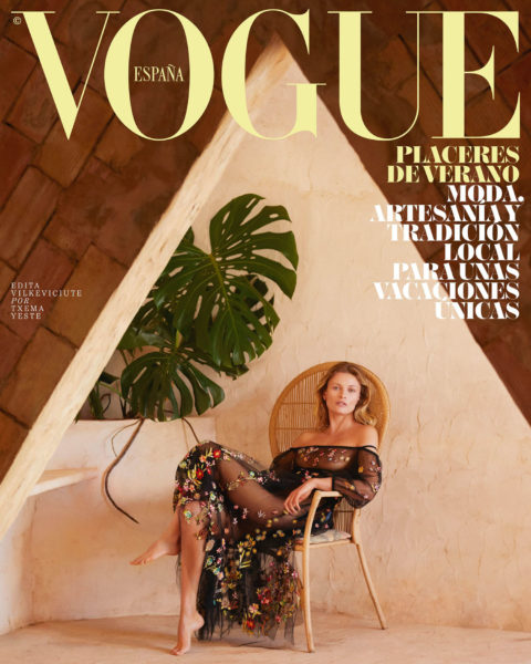 Edita Vilkeviciute covers Vogue Spain July 2021 by Txema Yeste