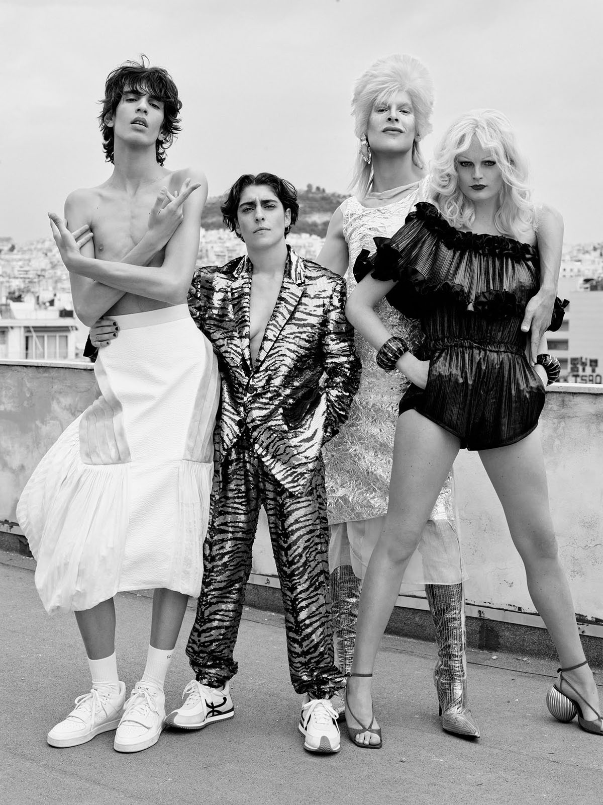Hanne Gaby Odiele and Checking Invoices cover Vogue Greece June 2021 by Phil Poynter