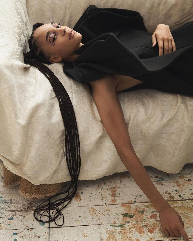 Indira Scott covers Vogue China July 2021 by Steven Pan