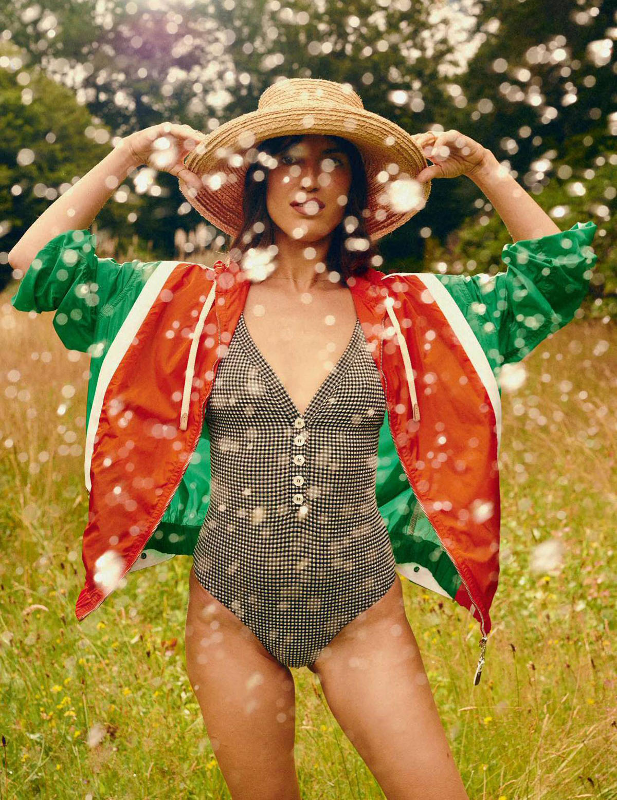Jeanne Damas covers Elle France July 30th, 2021 by Denis Boulze