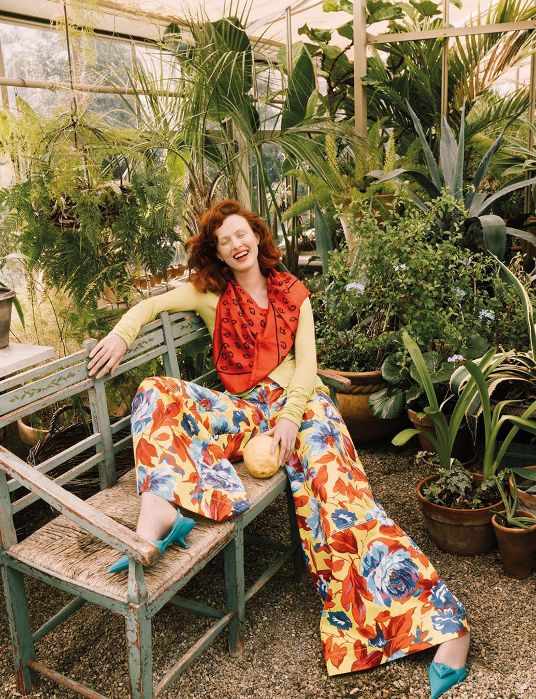 Karen Elson covers Vogue Greece April 2021 by Sebastian Kim