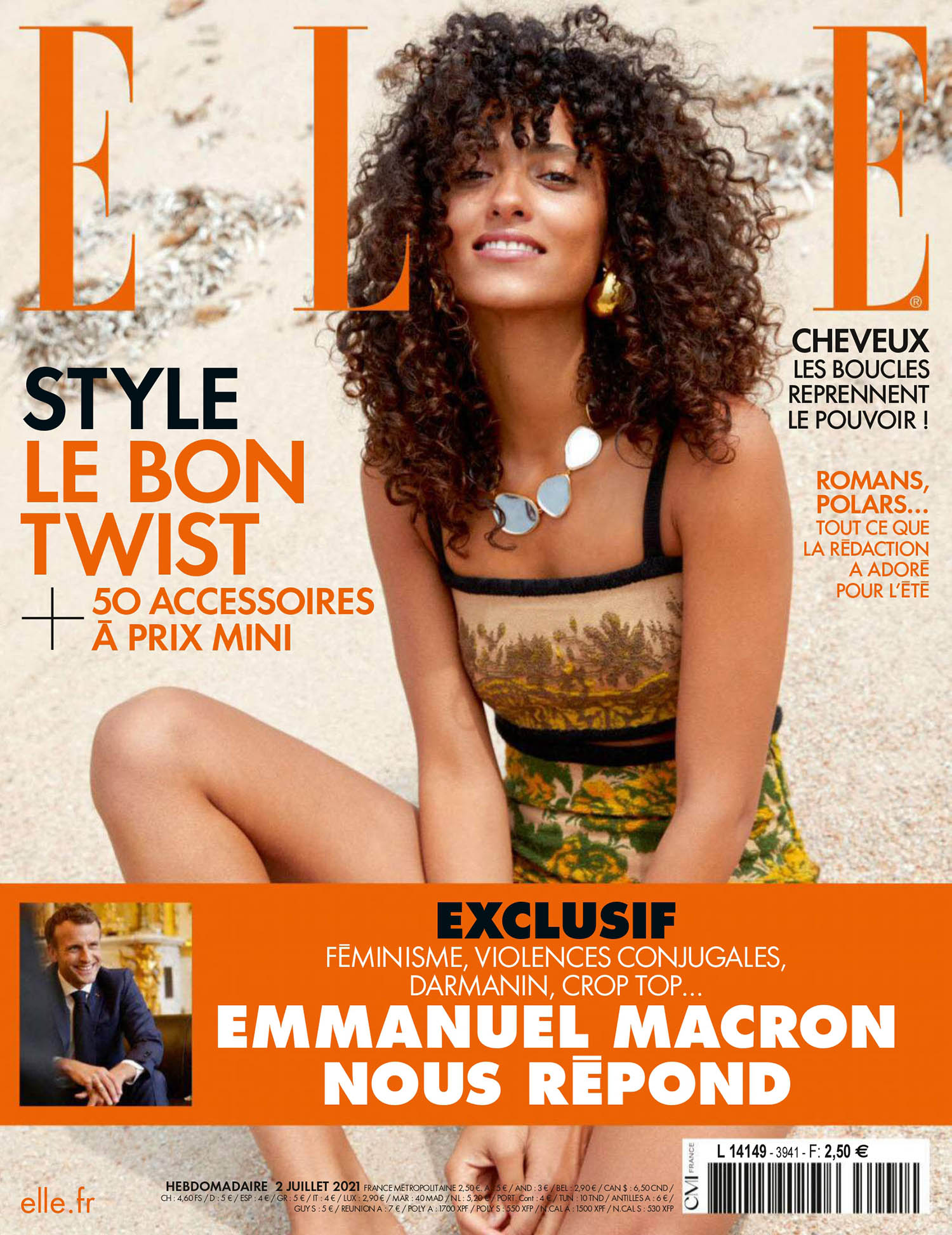 Mélodie Vaxelaire covers Elle France July 2nd, 2021 by Sam Hendel