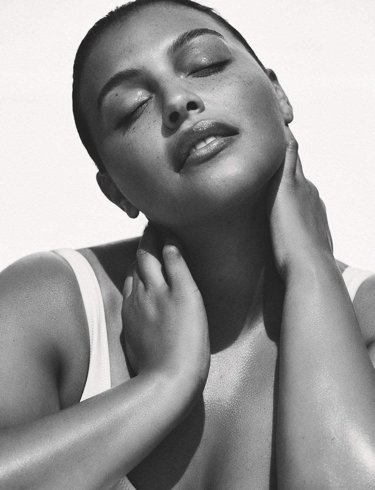Paloma Elsesser by Dan Martensen for British Vogue July 2021