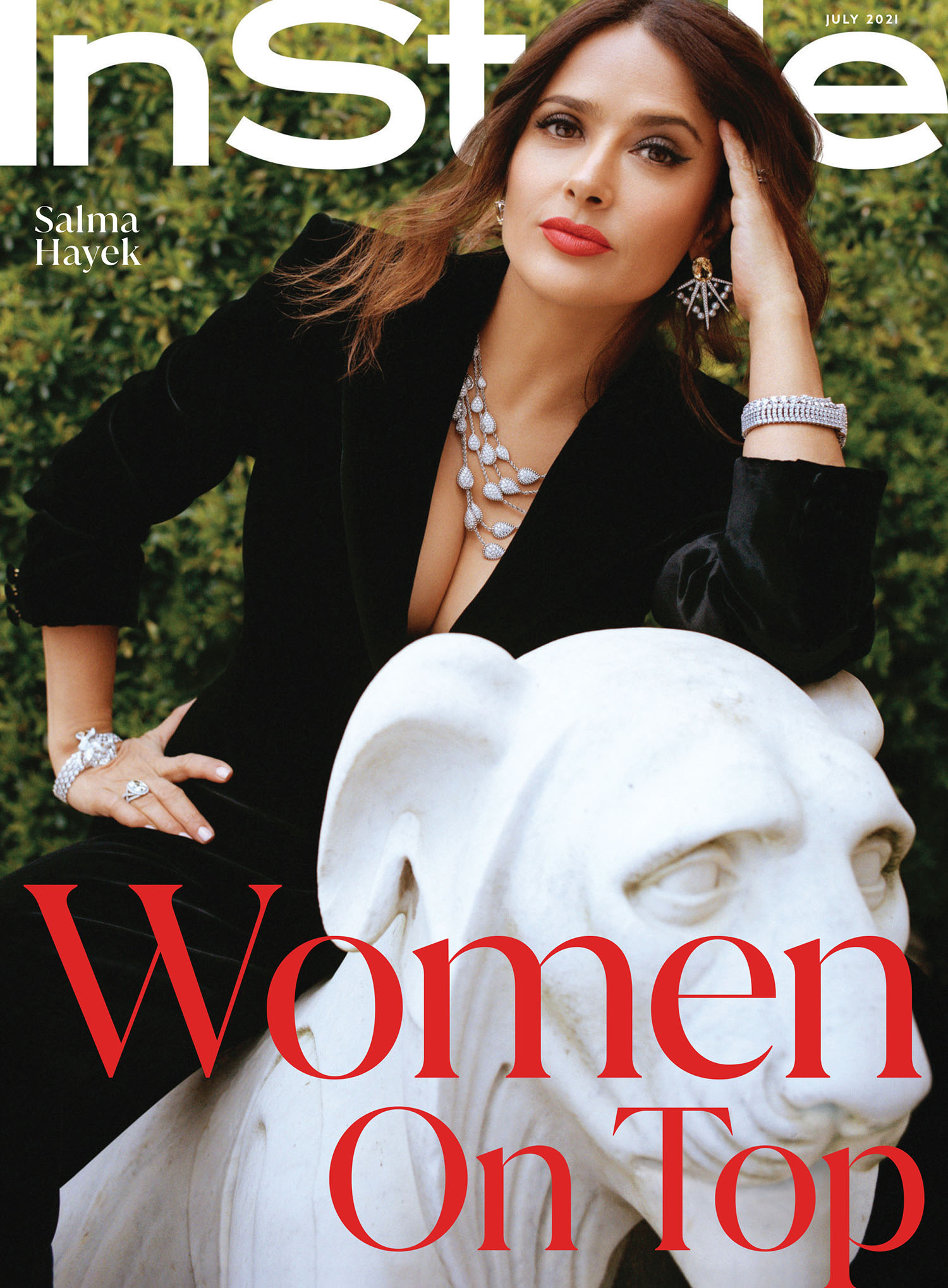 Salma Hayek covers InStyle US July 2021 by Charlotte Hadden