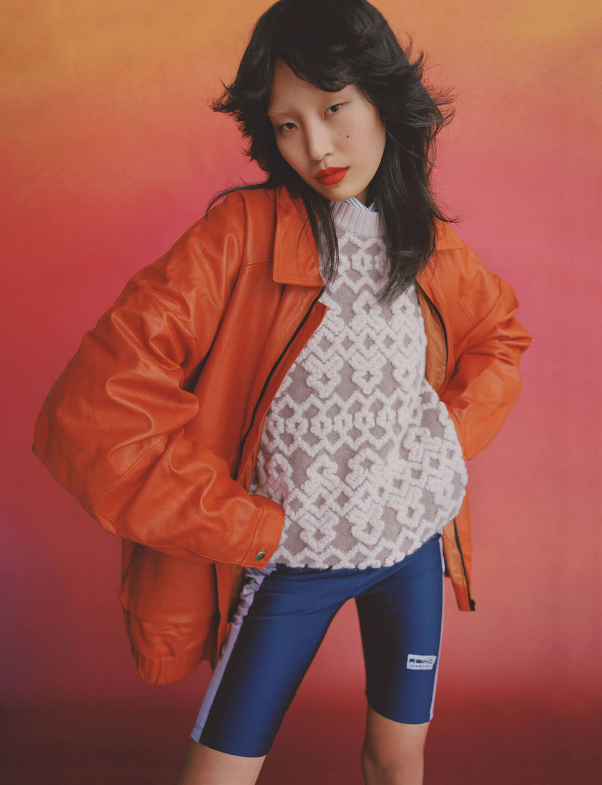 Xue Huizi and Dohyun Kim by Nadine Ijewere for British Vogue July 2021