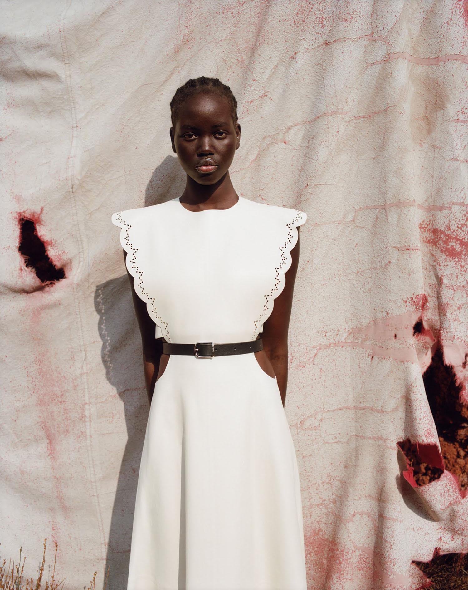 Adut Akech by Zoë Ghertner for Vogue US & British Vogue August 2021