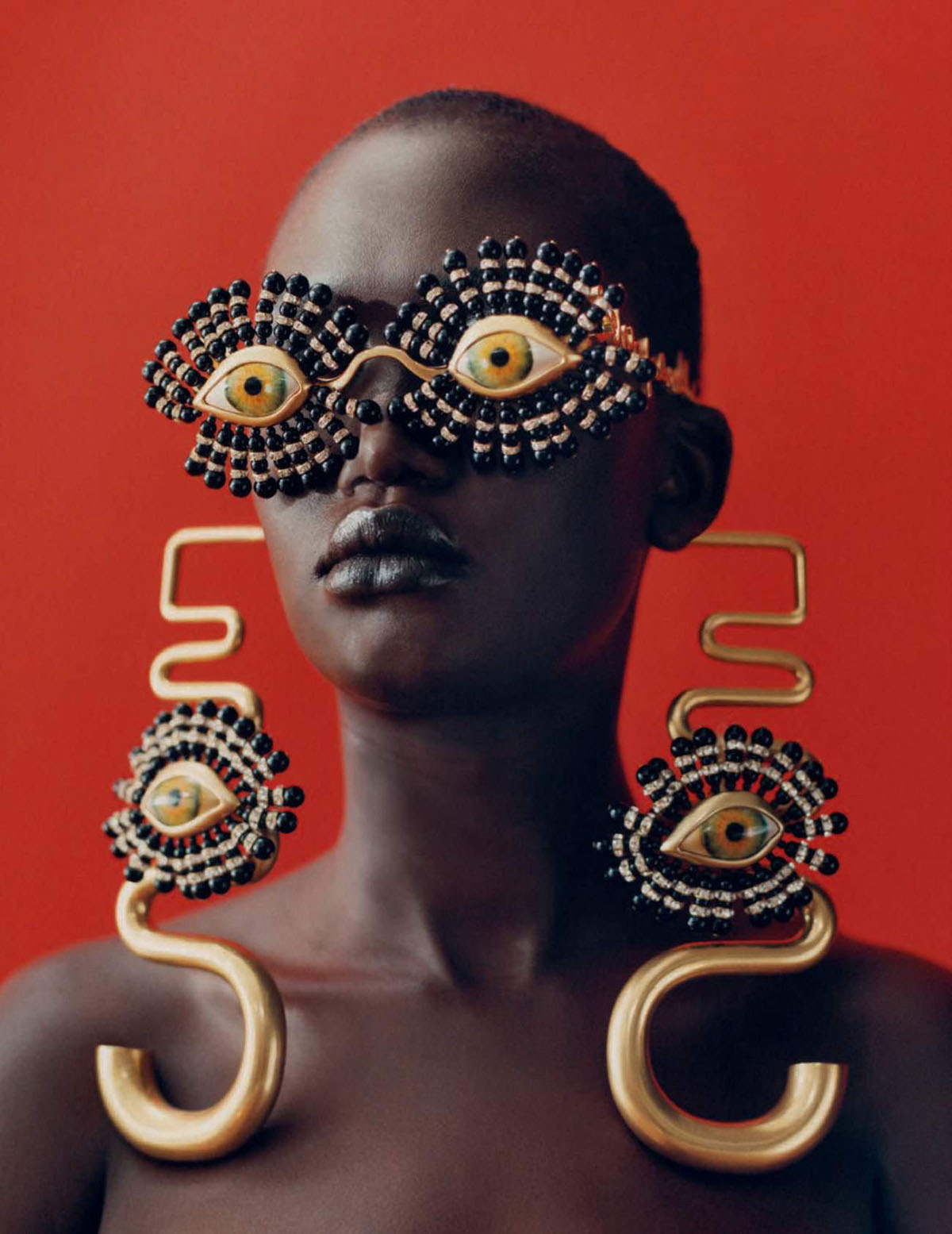 Awuor Dit, Tricia Akello and Liyah James by Camila Falquez for Vogue Spain July 2021
