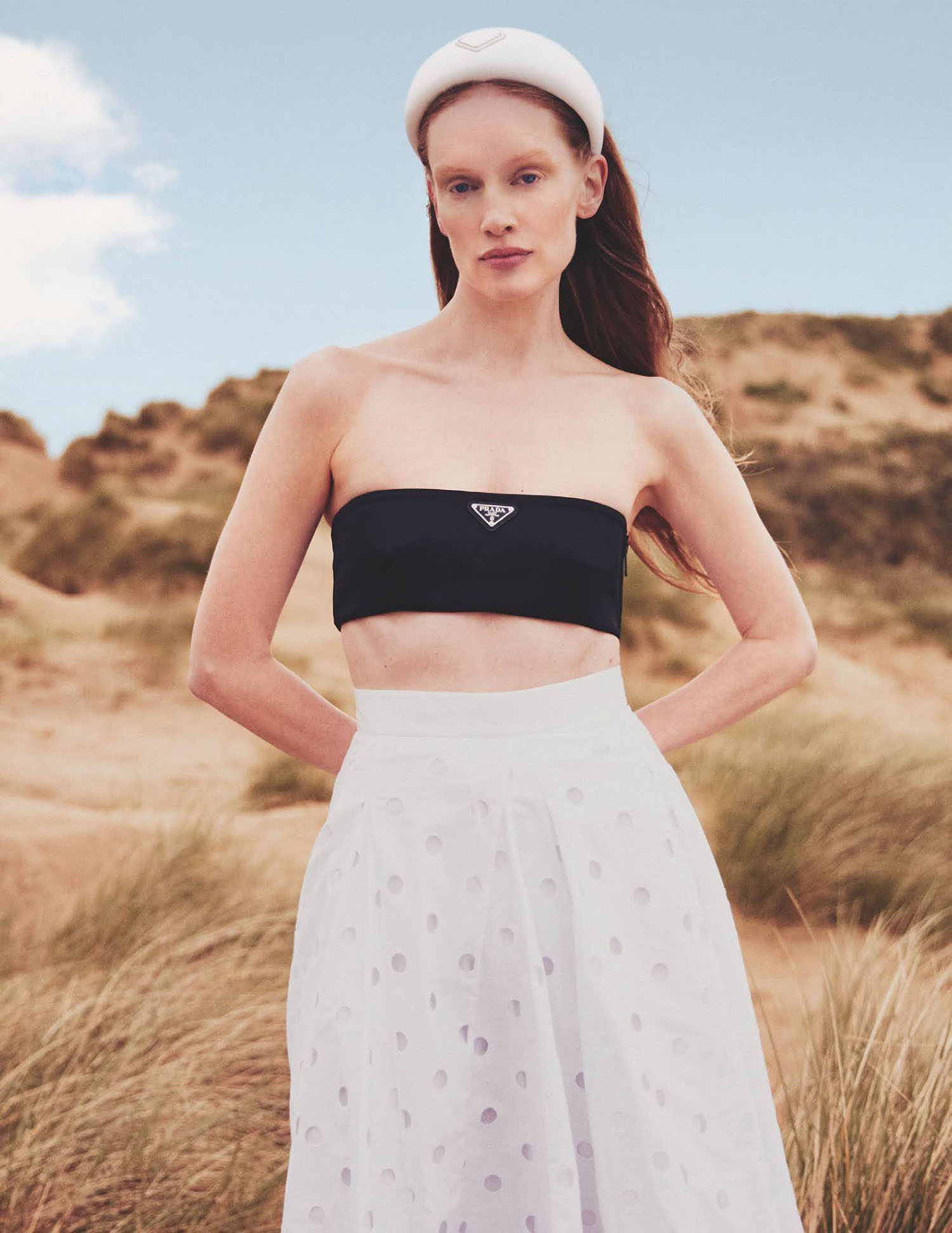 Bianca O'Brien by Thomas Cooksey for Tatler UK August 2021