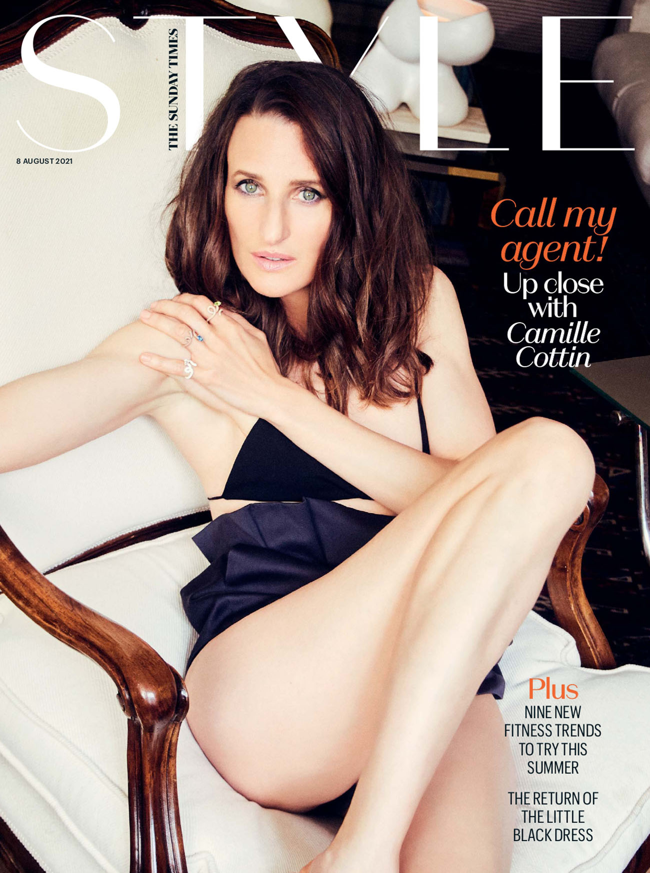 Camille Cottin covers The Sunday Times Style August 8th, 2021 by Ellen von Unwerth