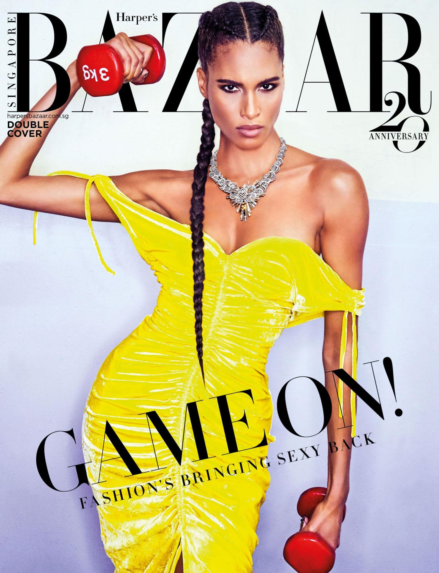 Cindy Bruna covers Harper's Bazaar Singapore July 2021 by Ellen von Unwerth