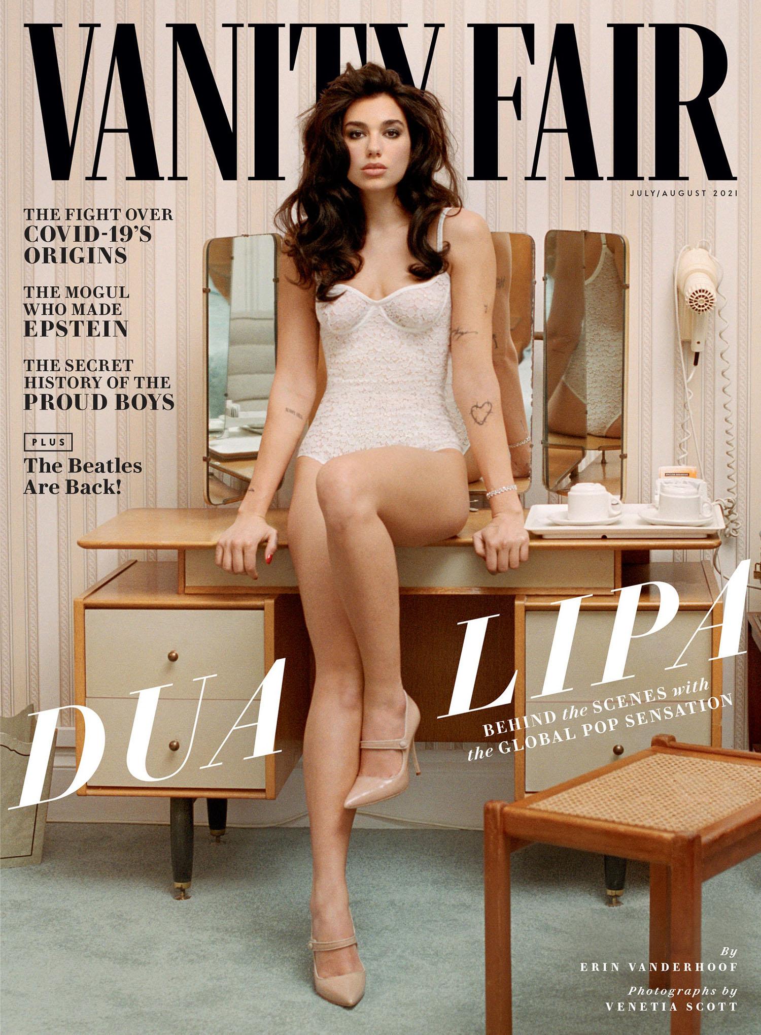 Dua Lipa covers Vanity Fair July August 2021 by Venetia Scott