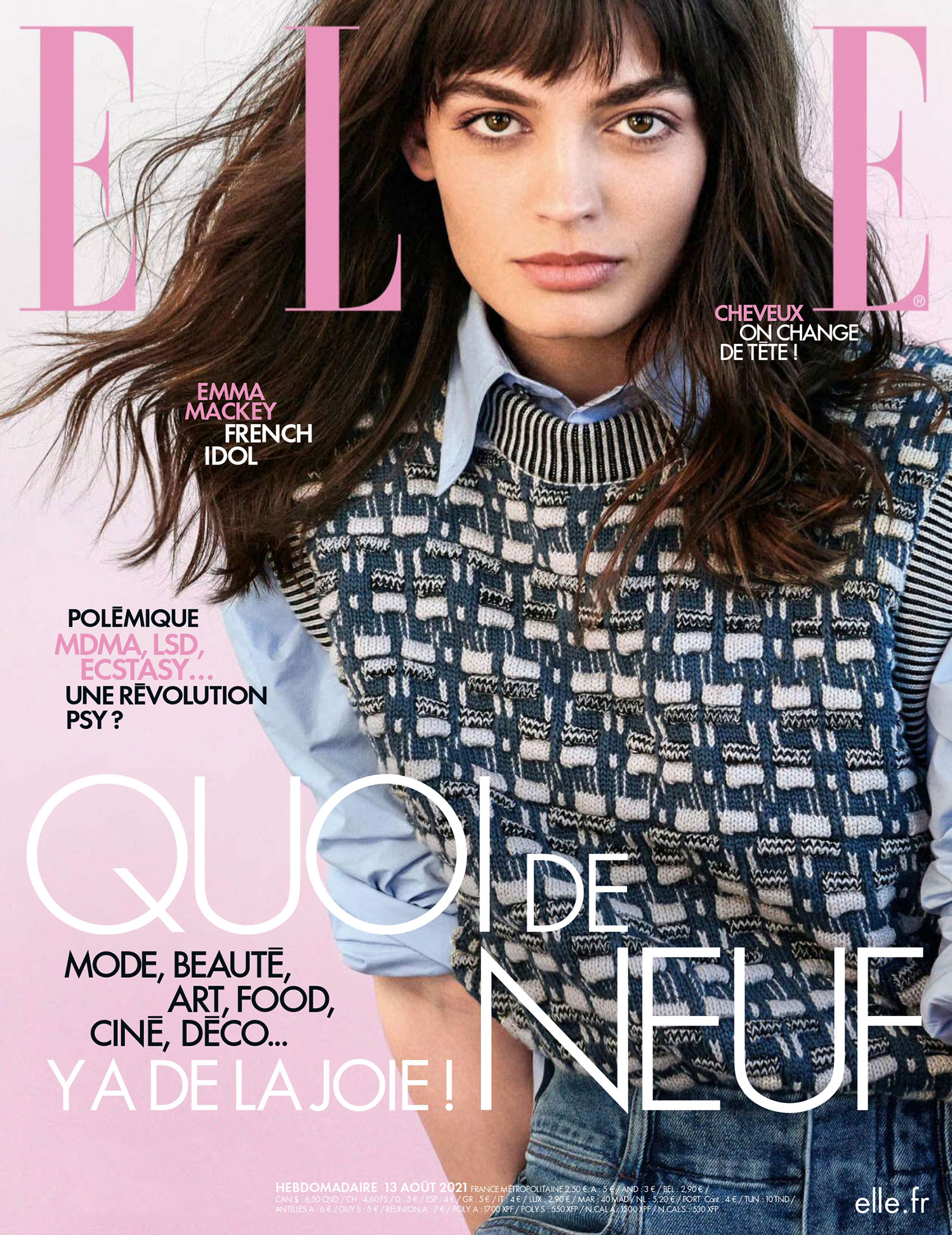Emma Mackey covers Elle France August 13th, 2021 by Dant Studio