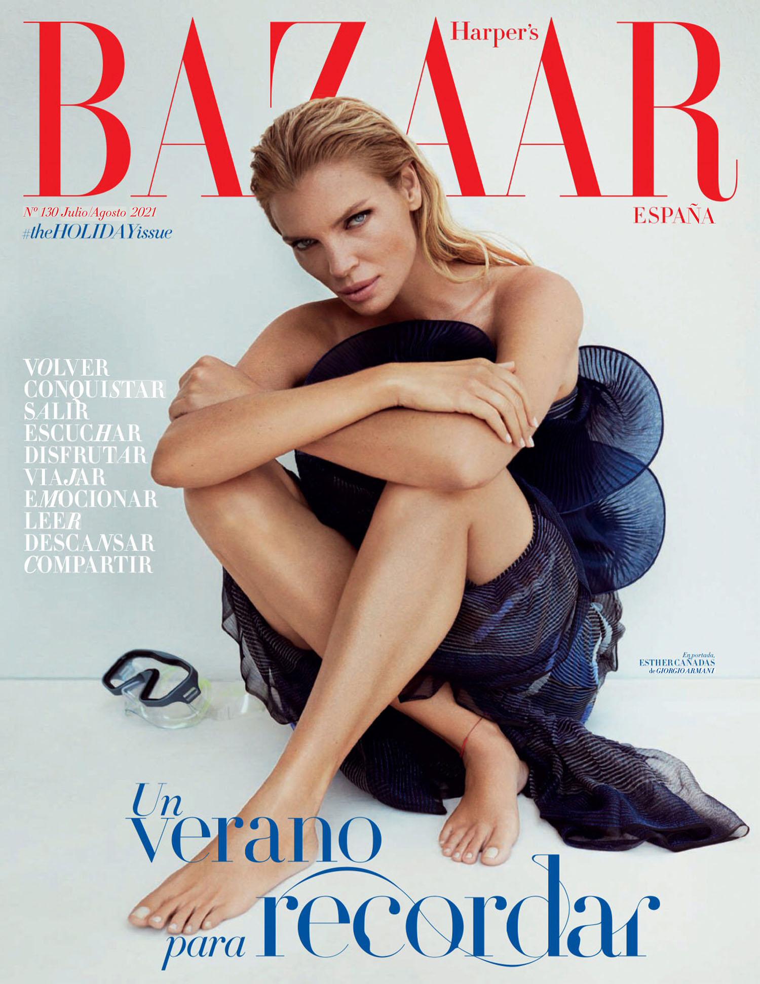 Esther Cañadas covers Harper's Bazaar Spain July August 2021 by Xavi Gordo