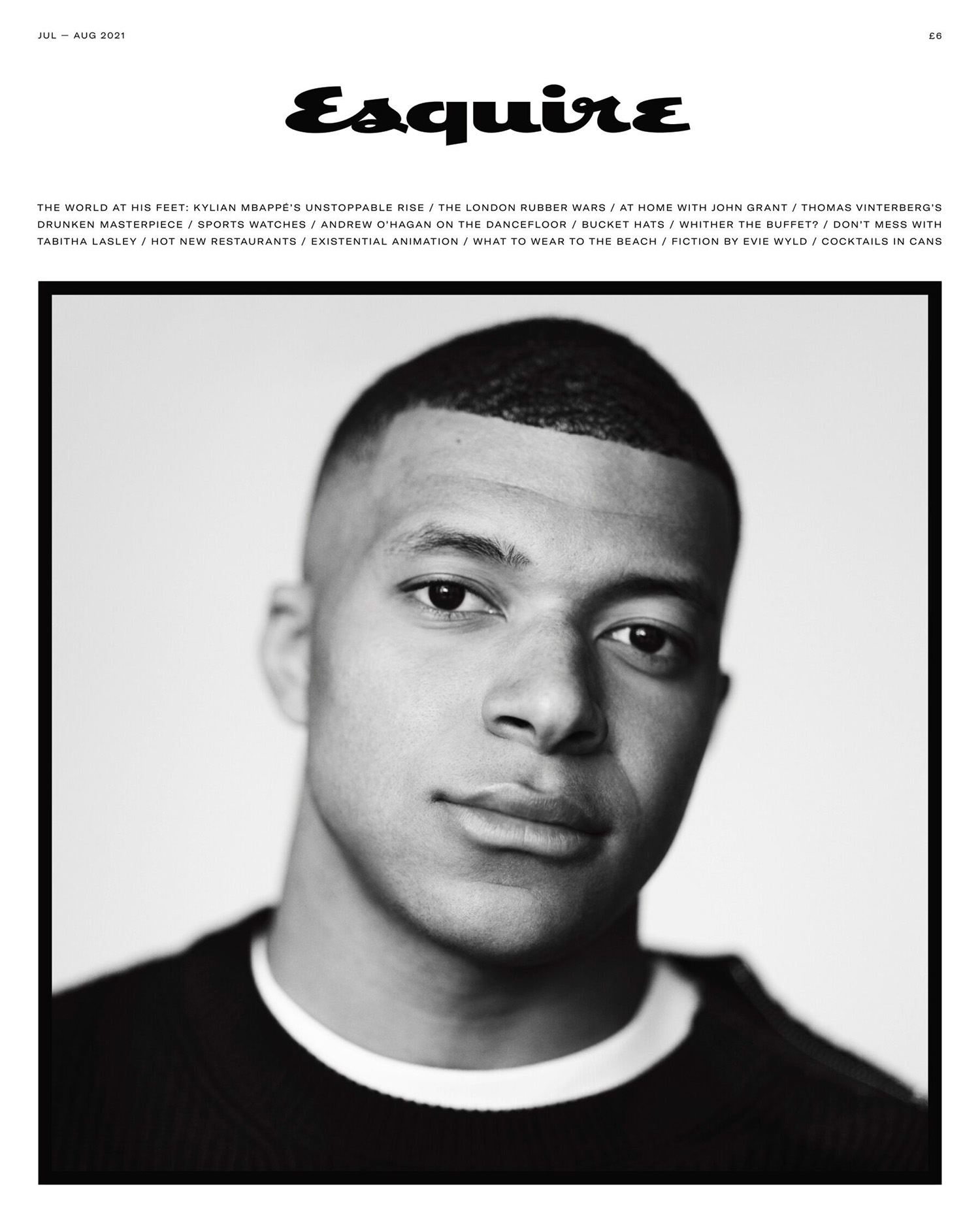 Kylian Mbappé covers Esquire UK July August 2021 by Nathaniel Goldberg