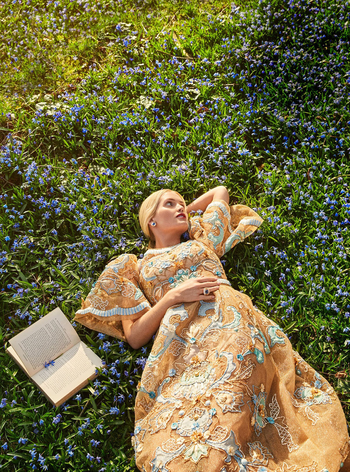 Lady Kitty Spencer covers Town & Country UK Summer 2021 by Richard Phibbs