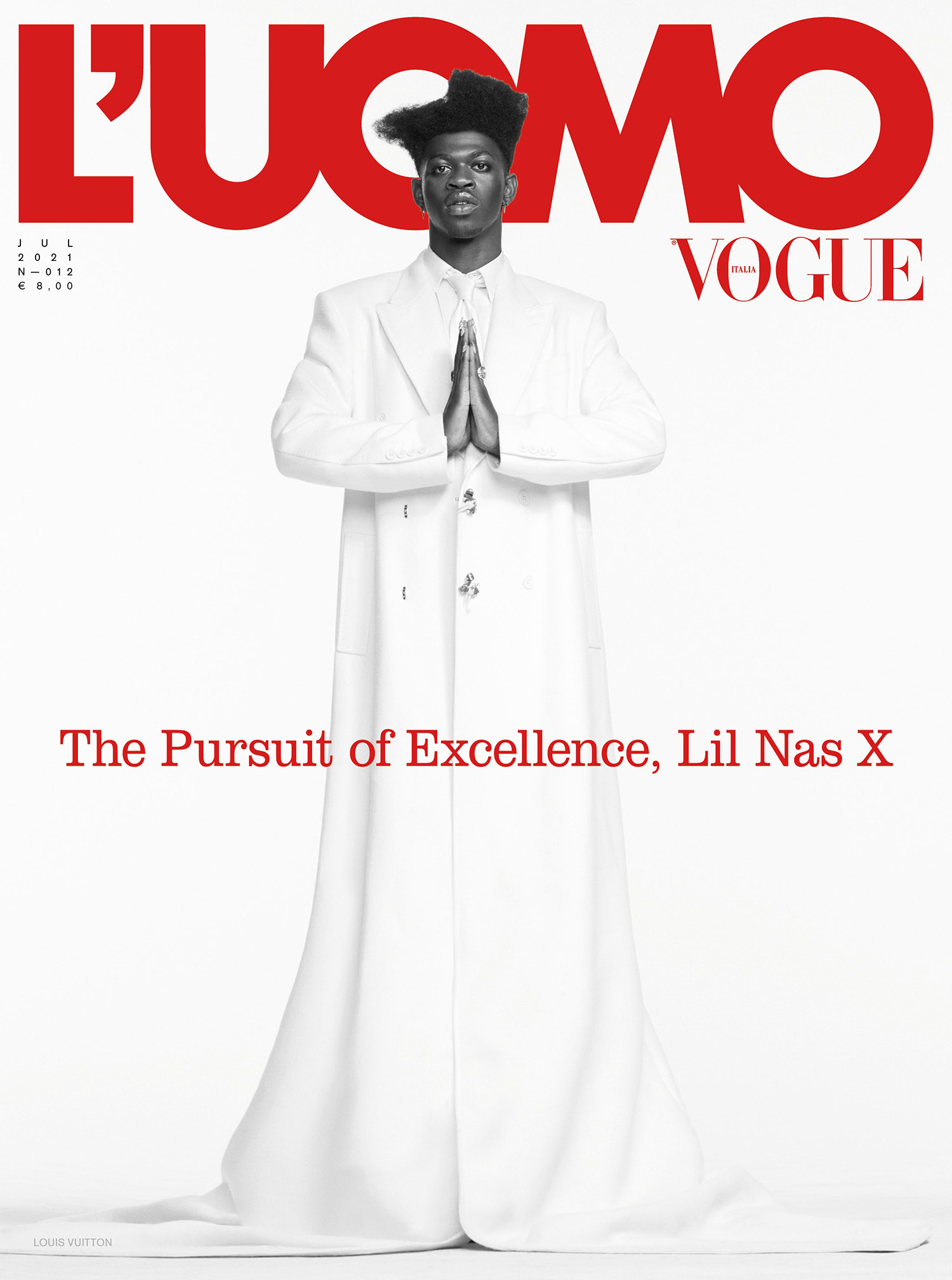 Lil Nas X covers L'Uomo Vogue Issue 12 by Ethan James Green