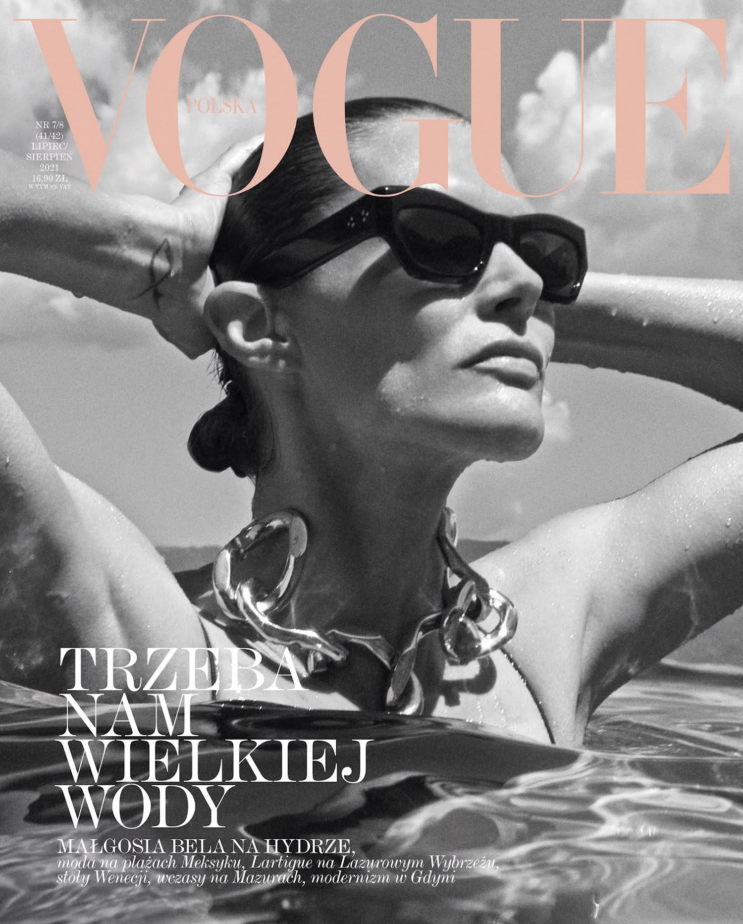 Małgosia Bela covers Vogue Poland July August 2021 by Magda Wunsche & Aga Samsel