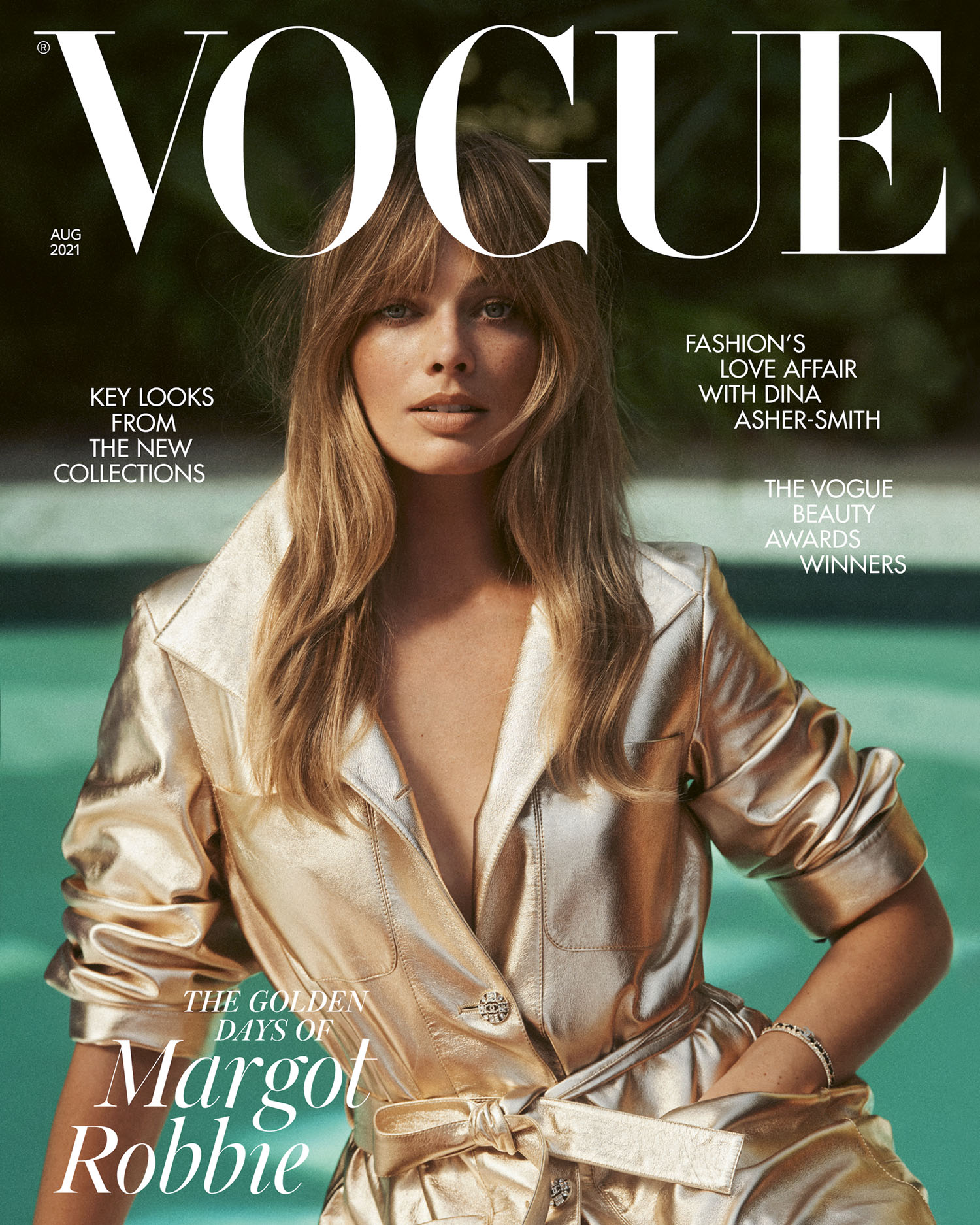 Margot Robbie covers British Vogue August 2021 by Lachlan Bailey