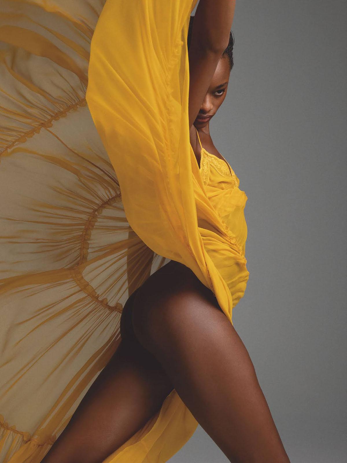 Mayowa Nicholas by Inez and Vinoodh for British Vogue July 2021