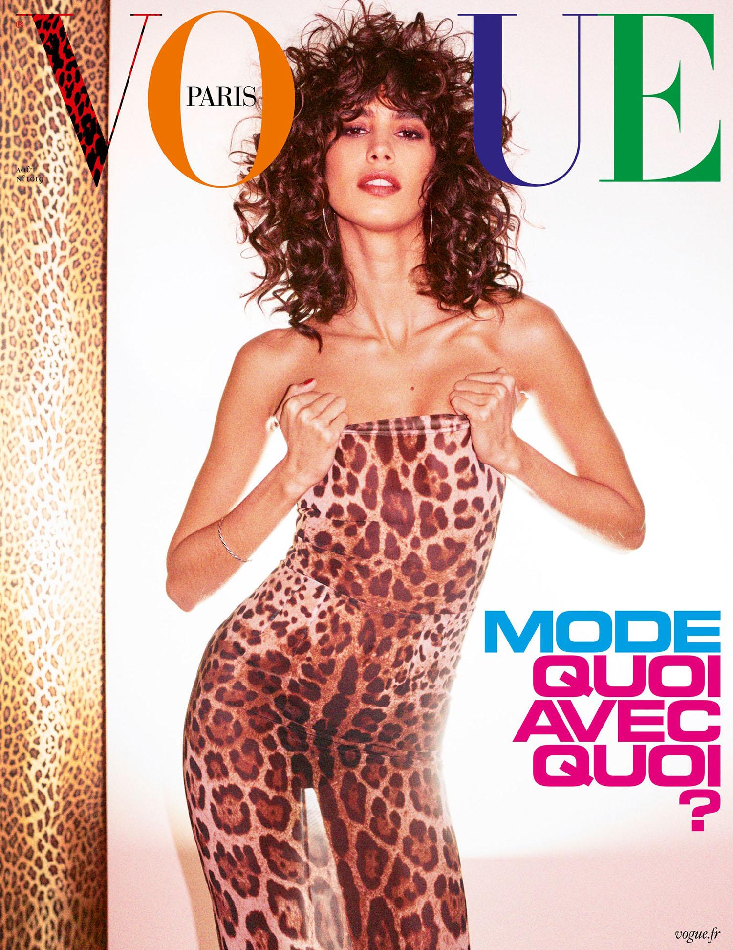Mica Argañaraz covers Vogue Paris August 2021 by Mikael Jansson