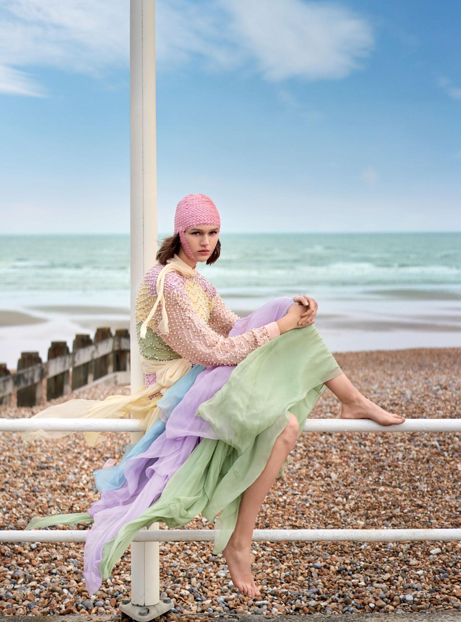 Natalie Ogg by Lynette Garland for Harper's Bazaar UK August 2021