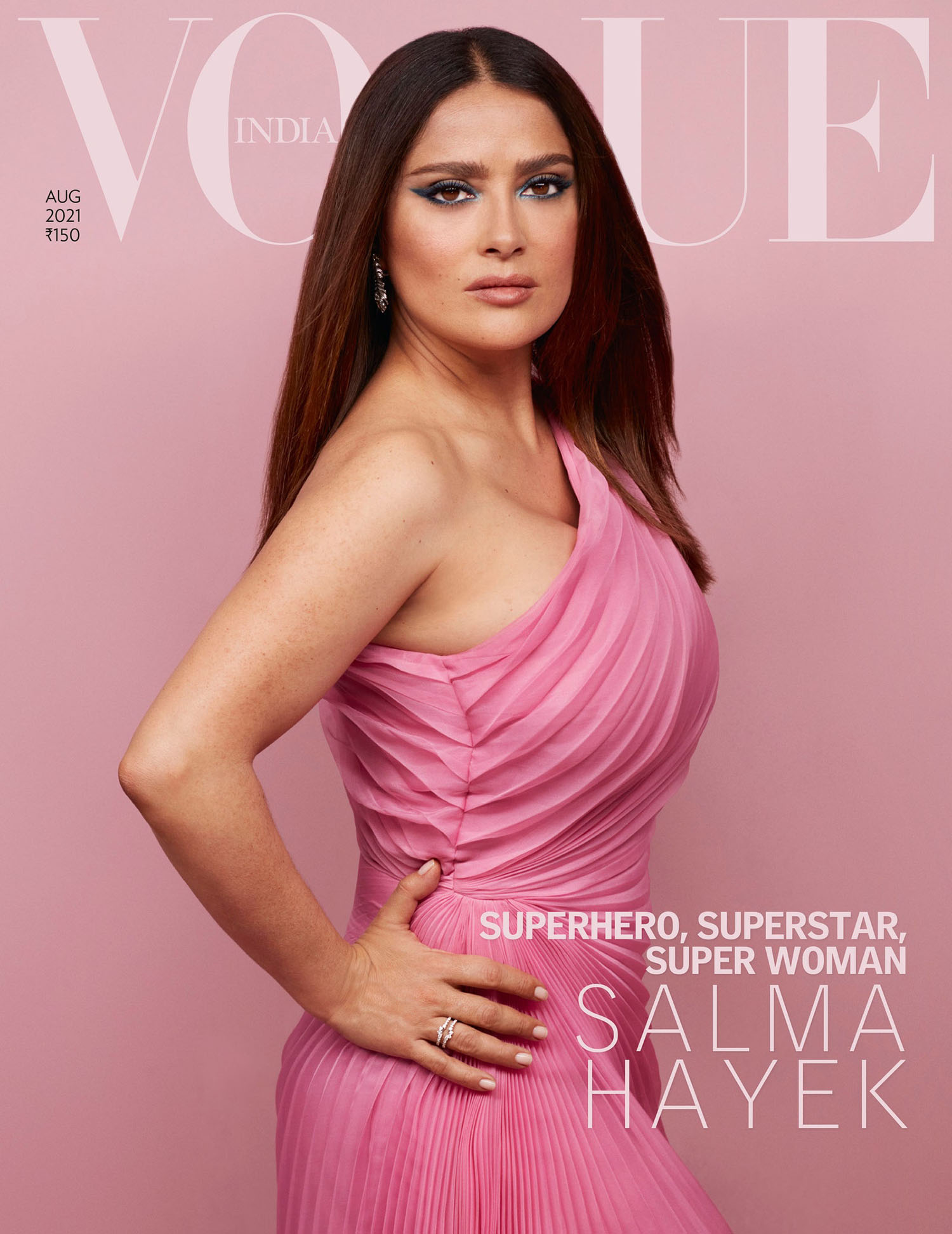 Salma Hayek covers Vogue India August 2021 by Jackie Nickerson