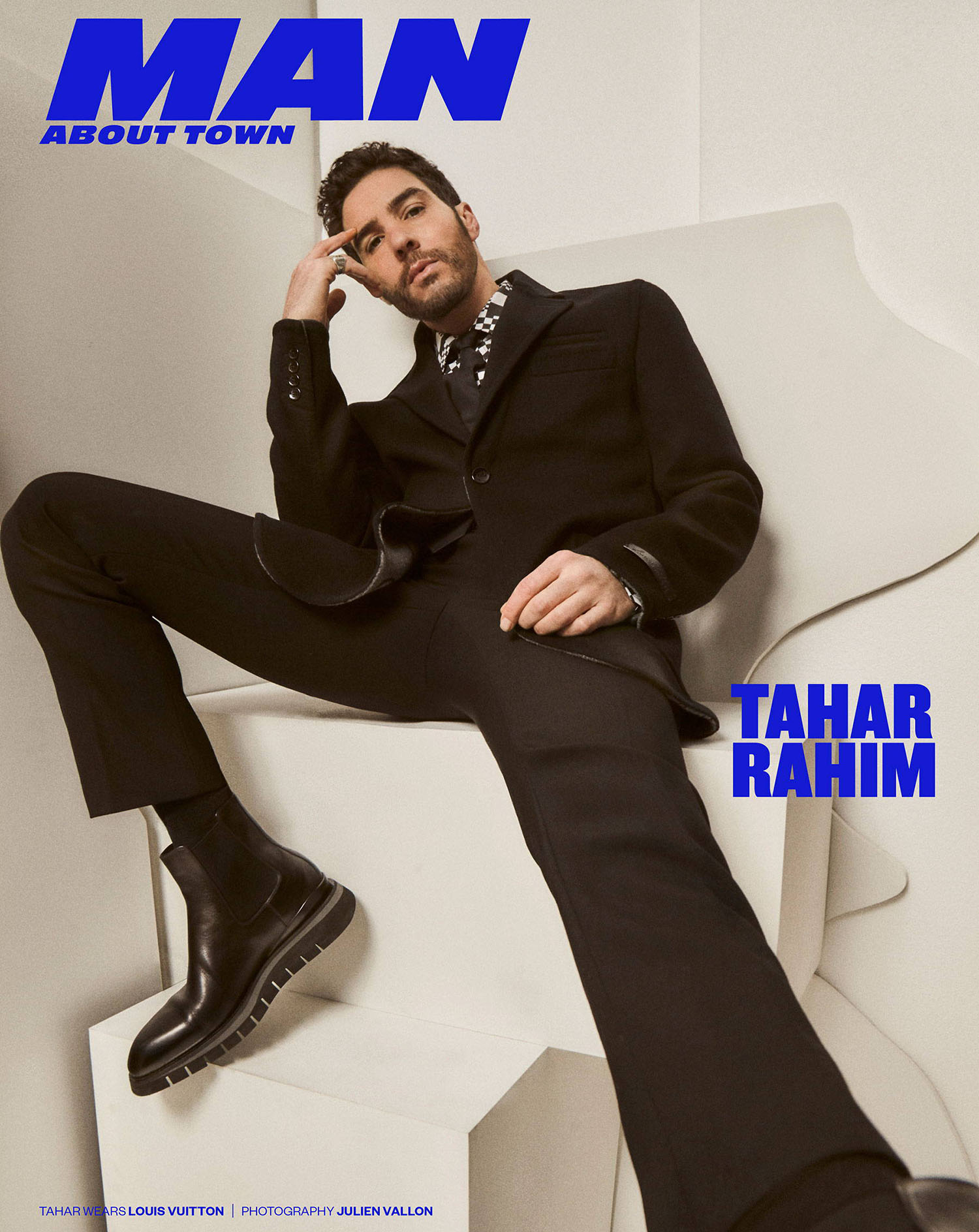 Tahar Rahim covers Man About Town Spring Summer 2021 by Julien Vallon