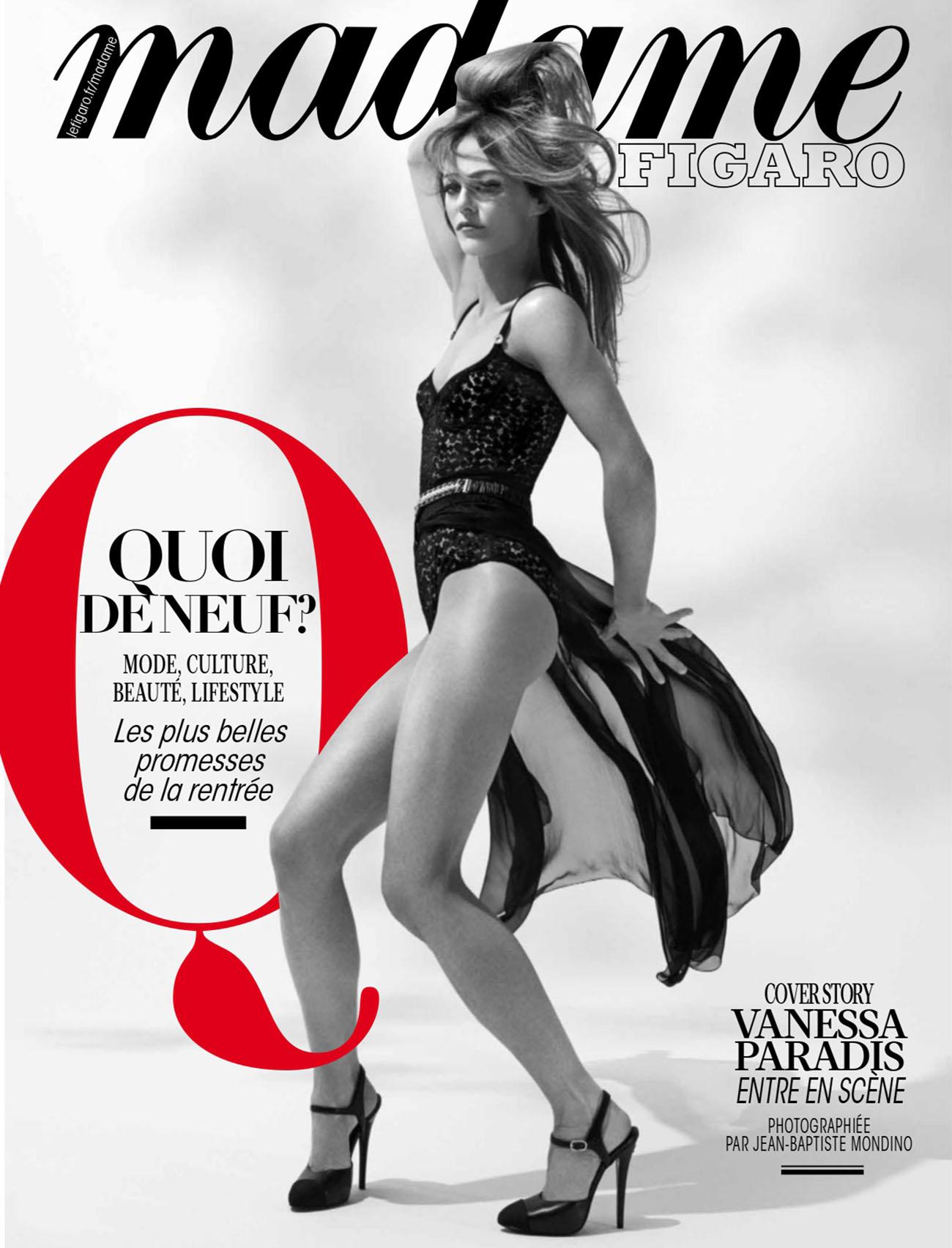 Vanessa Paradis covers Madame Figaro August 20th, 2021 by Jean-Baptiste Mondino