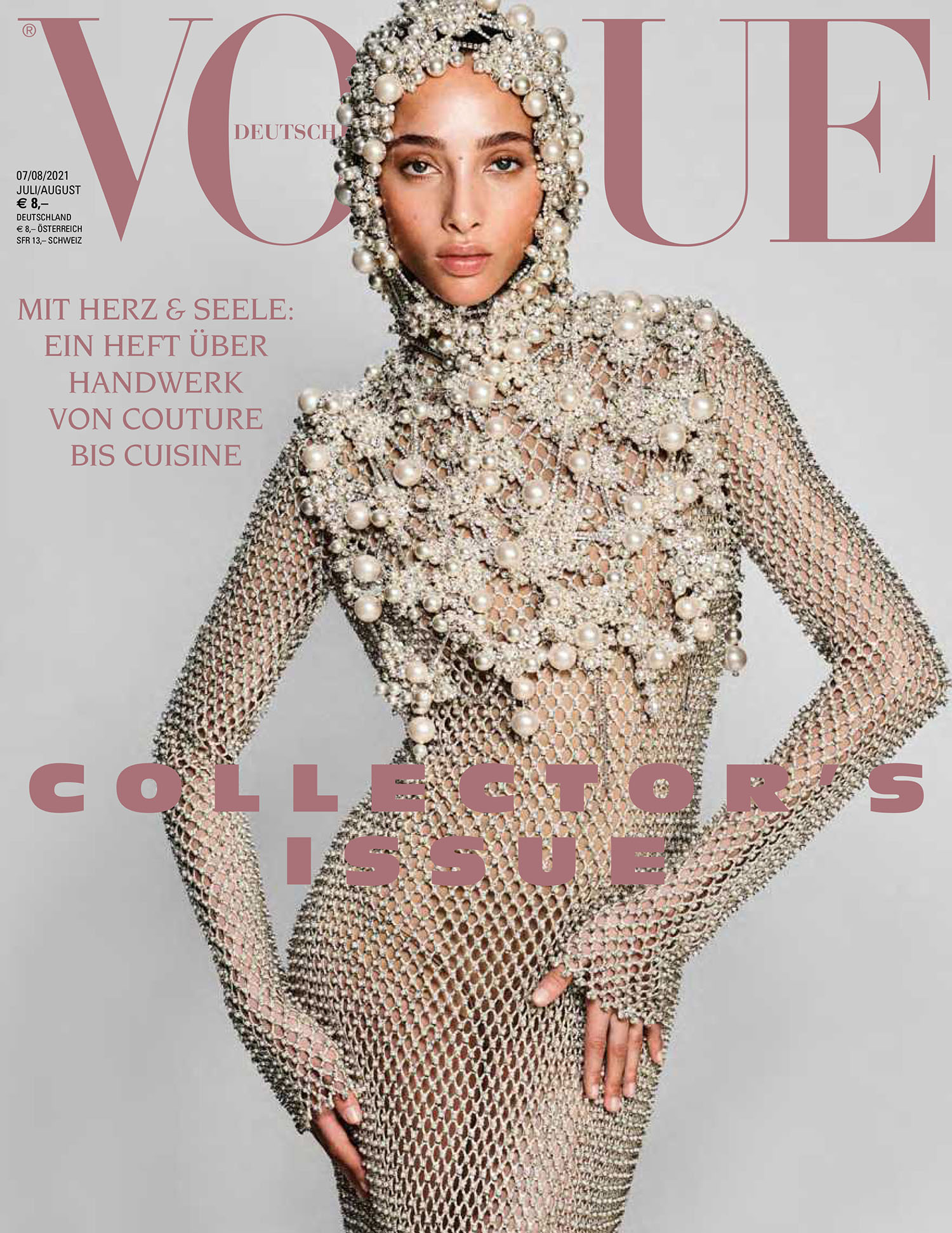 Yasmin Wijnaldum covers Vogue Germany July August 2021 by Chris Colls