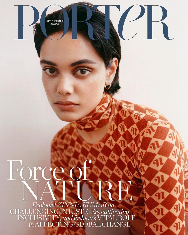 Zinnia Kumar covers Porter Magazine August 9th, 2021 by Rodrigo Carmuega