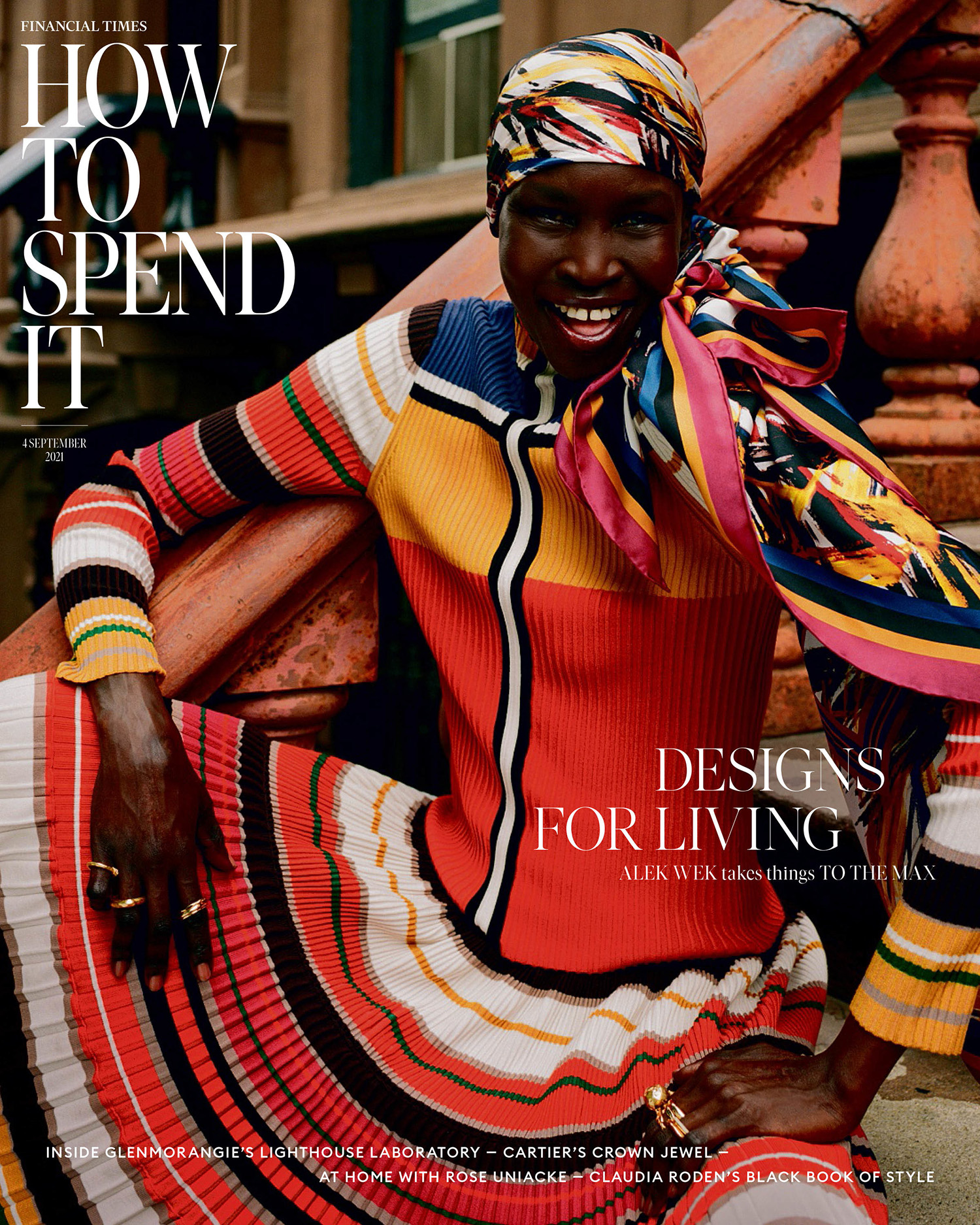 Alek Wek covers How To Spend It September 4th, 2021 by Andre D. Wagner