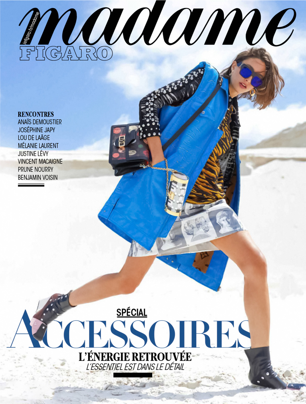 Alexandra Agoston covers Madame Figaro September 10th, 2021 by Luc Braquet