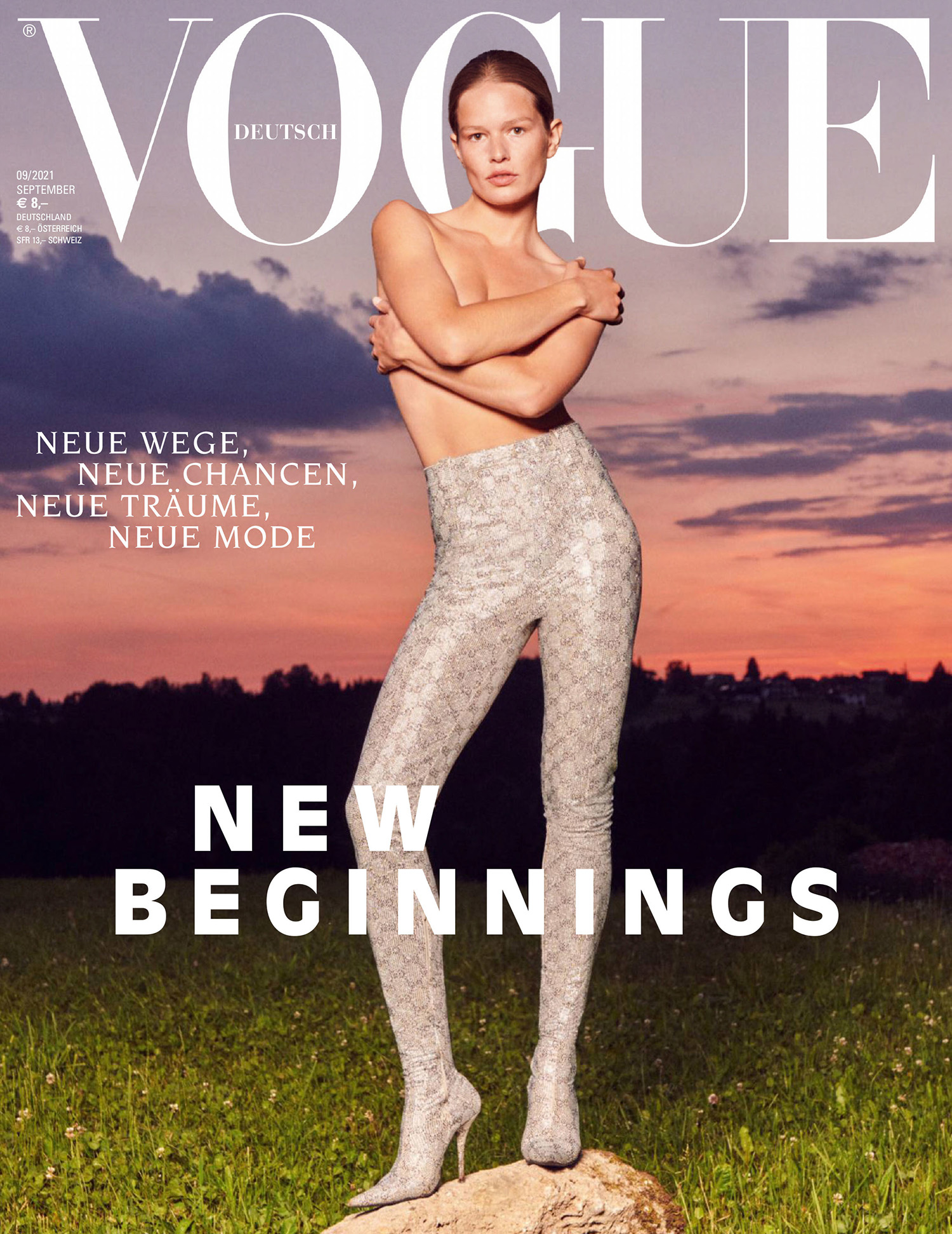 Anna Ewers covers Vogue Germany September 2021 by Julia Noni