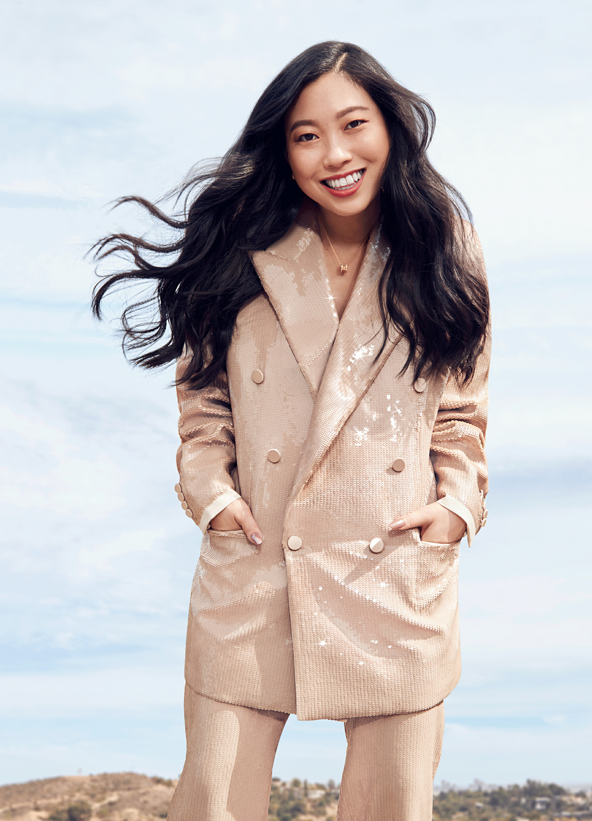 Awkwafina covers Cosmopolitan US September 2021 by Mei Tao