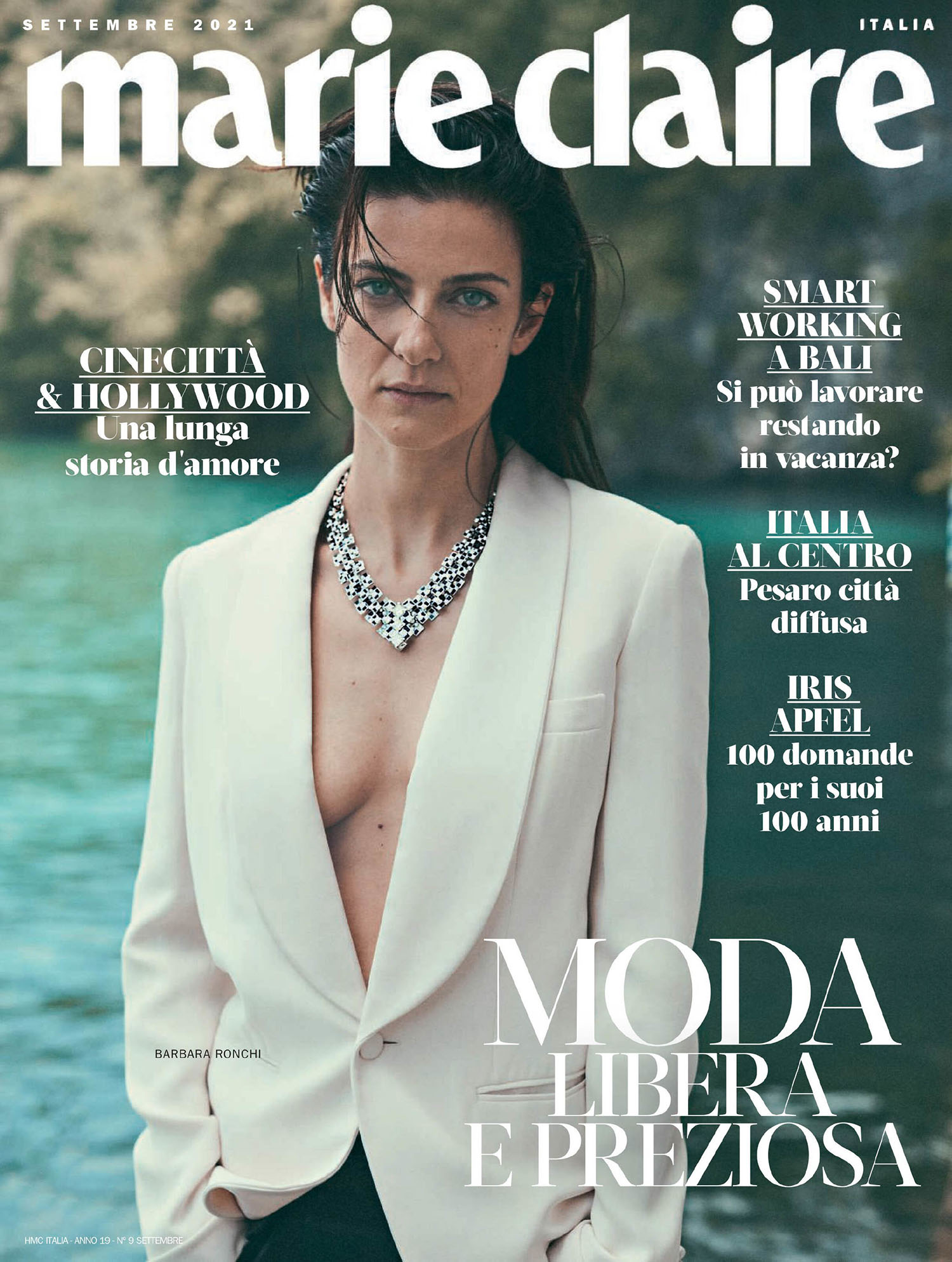 Barbara Ronchi covers Marie Claire Italia September 2021 by Stefano Galuzzi