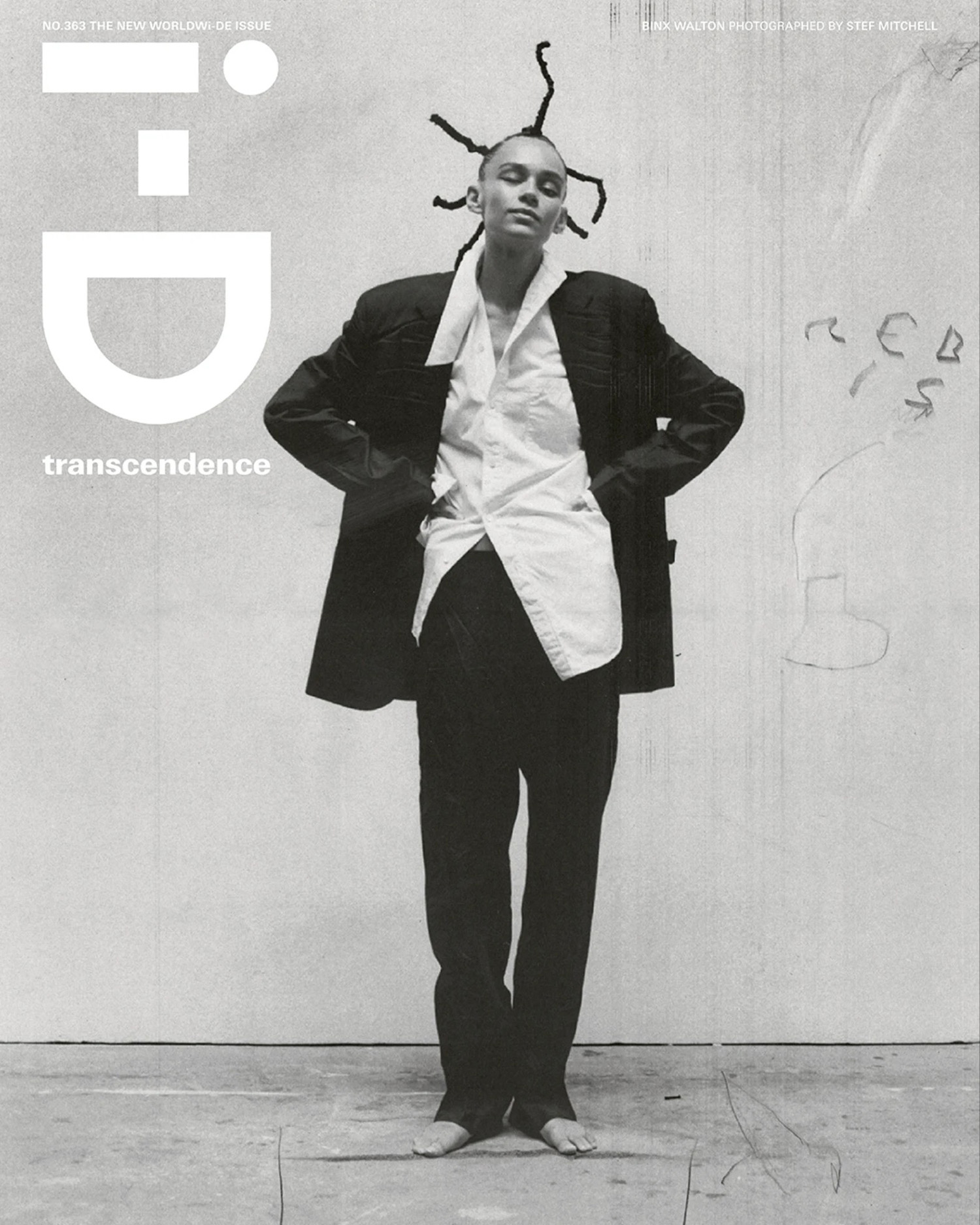 Binx Walton covers i-D Magazine Issue 363 by Stef Mitchell