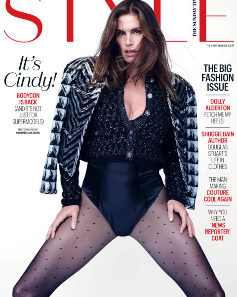 Cindy Crawford covers The Sunday Times Style September 12th, 2021 by Nathaniel Goldberg