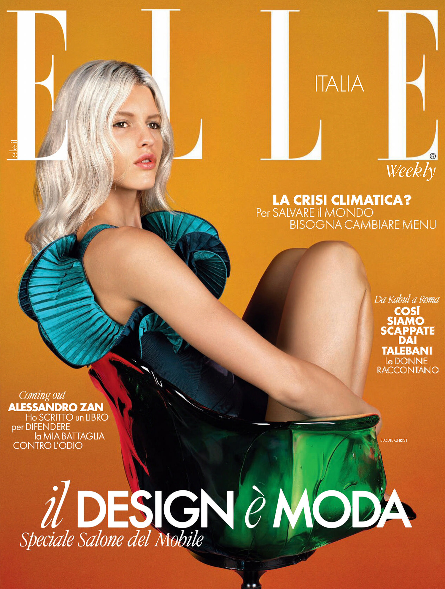 Elodie Christ covers Elle Italia September 9th, 2021 by Luca Stoppini