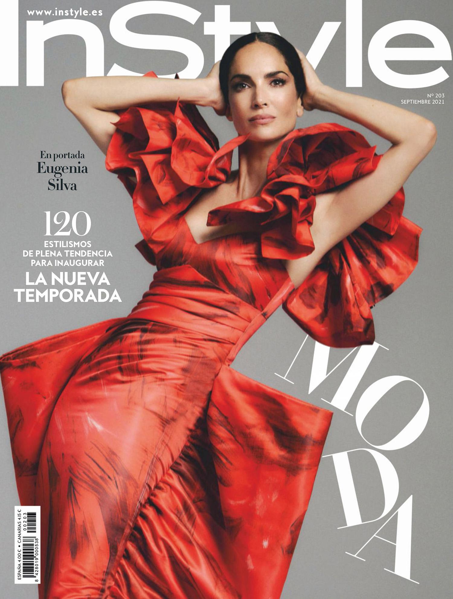 Eugenia Silva covers InStyle Spain September 2021 by Javier Biosca