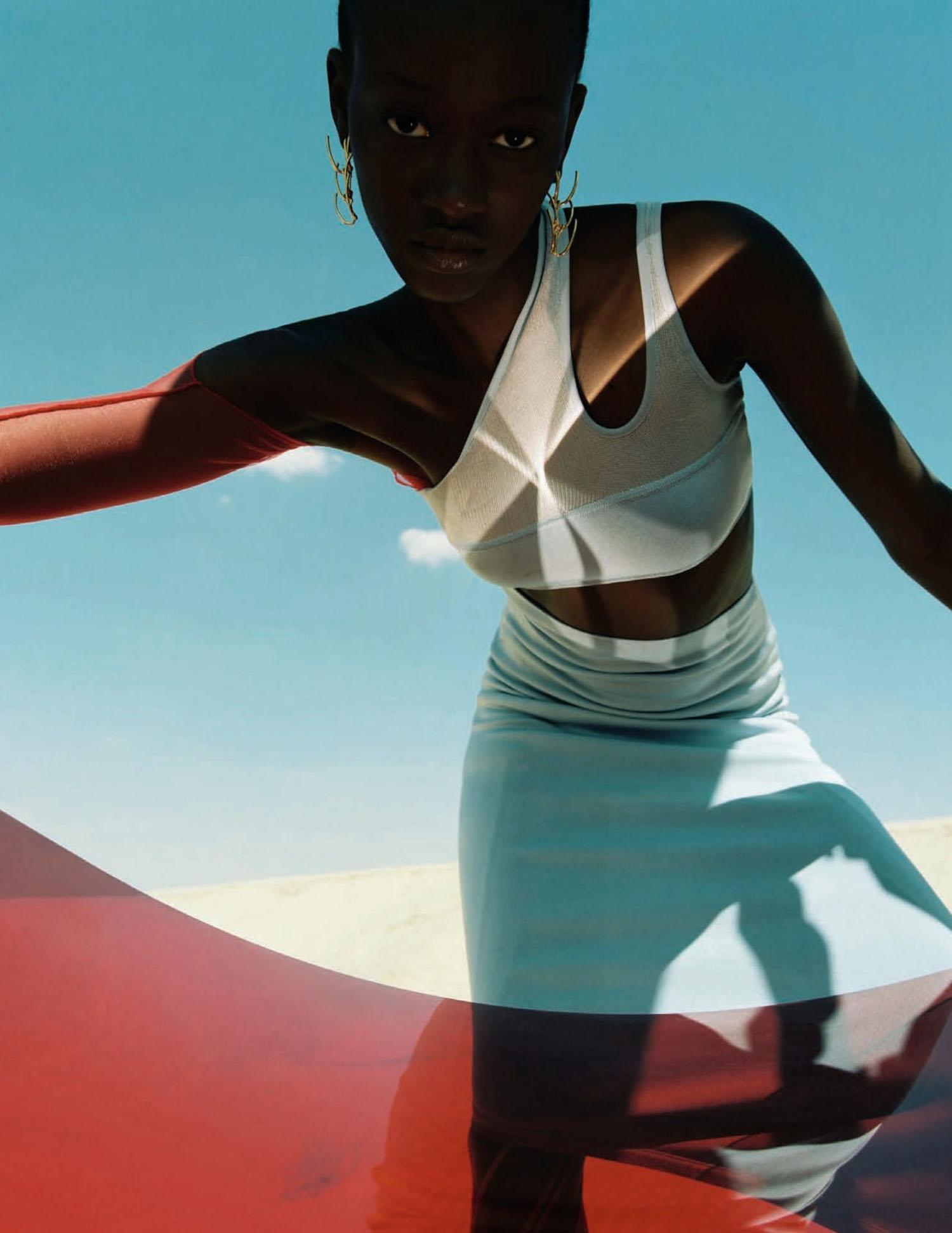 Eya Mariam by Dan Beleiu for Vogue Spain August 2021