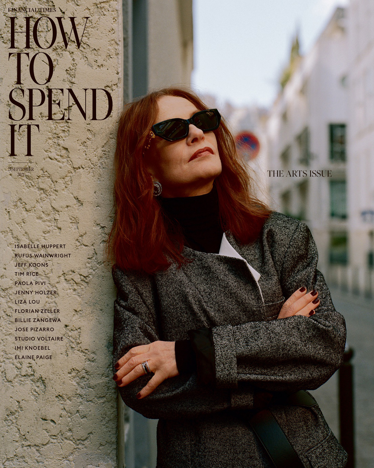 Isabelle Huppert covers How To Spend It September 25th, 2021 by Kuba Ryniewicz