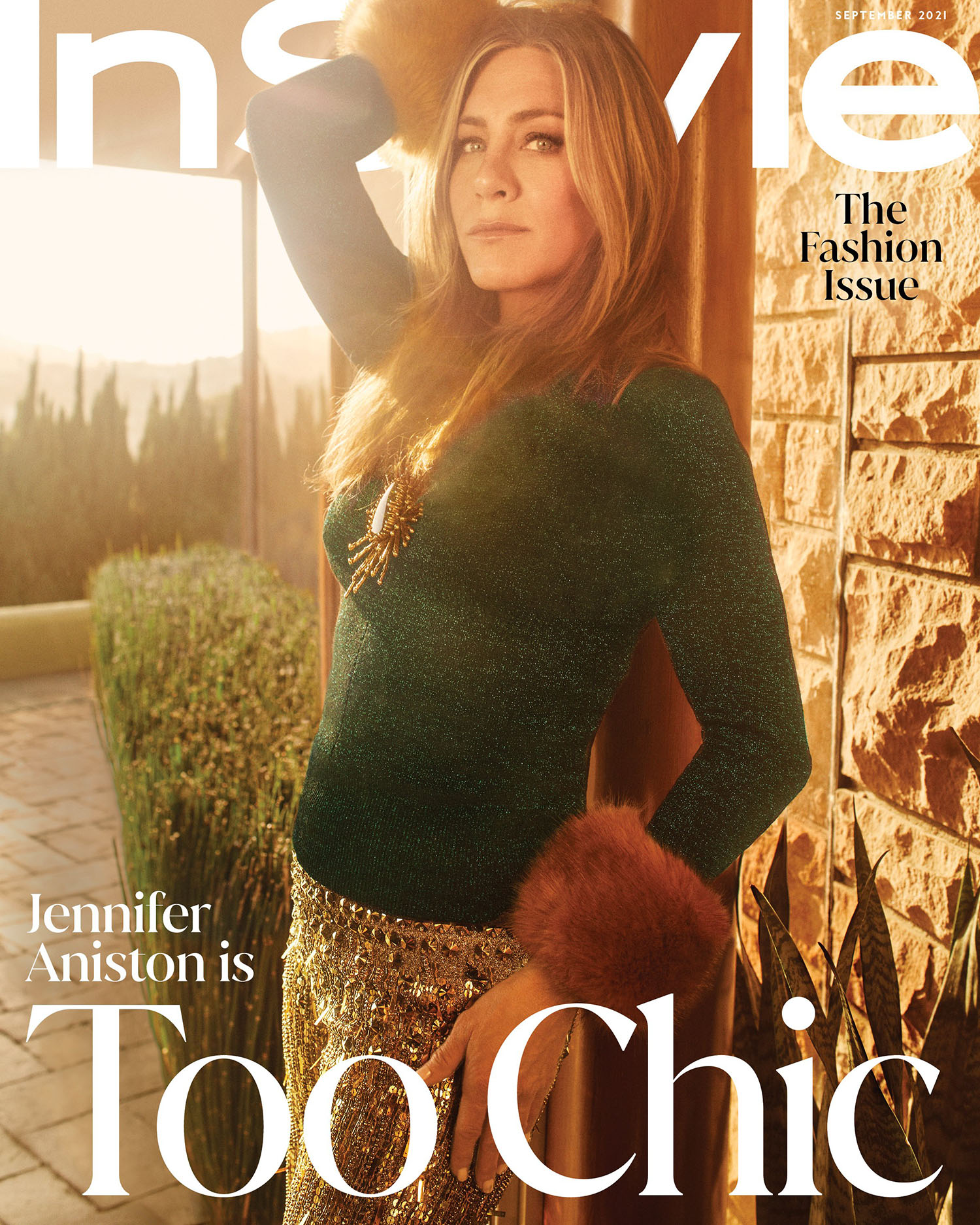 Jennifer Aniston covers InStyle US September 2021 by Emma Summerton