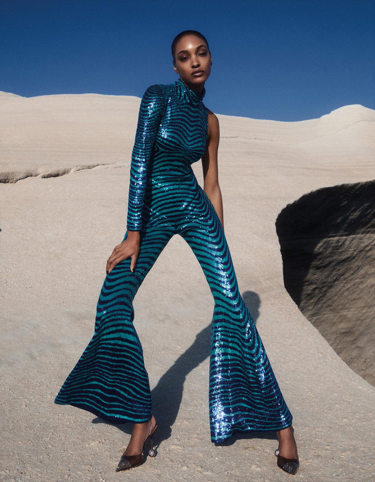 Jourdan Dunn covers Vogue Greece September 2021 by Alvaro Beamud Cortes